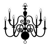 Chandelier Black White Stock Vectors Illustrations   Clipart
