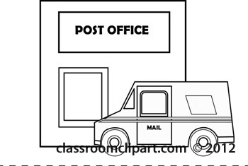 Classroom Clipart   Black And White Clipart Clipart  Postoffice
