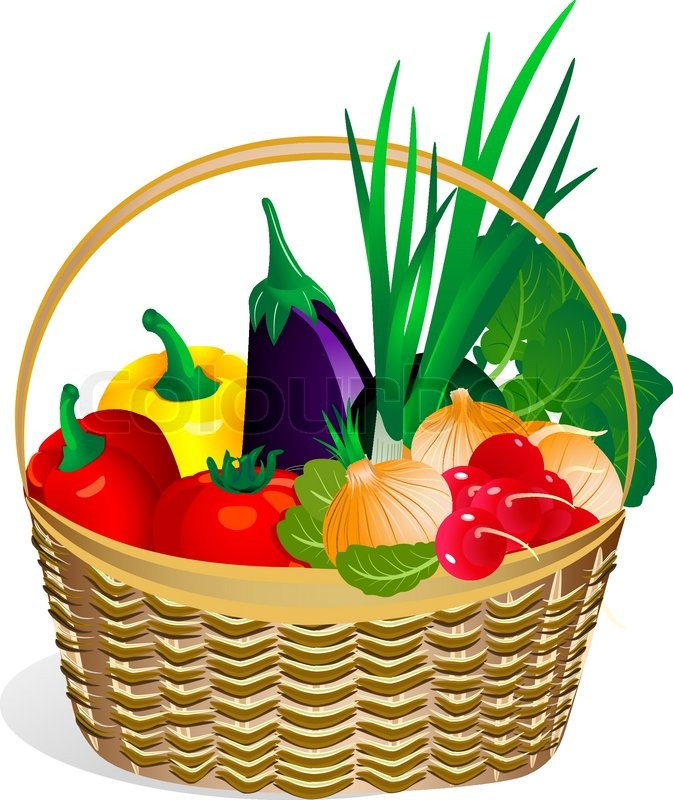 Fruit Vegetables And Basket Clipart - Clipart Suggest
