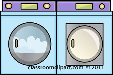 Household   Clothes Washer And Dryer   Classroom Clipart