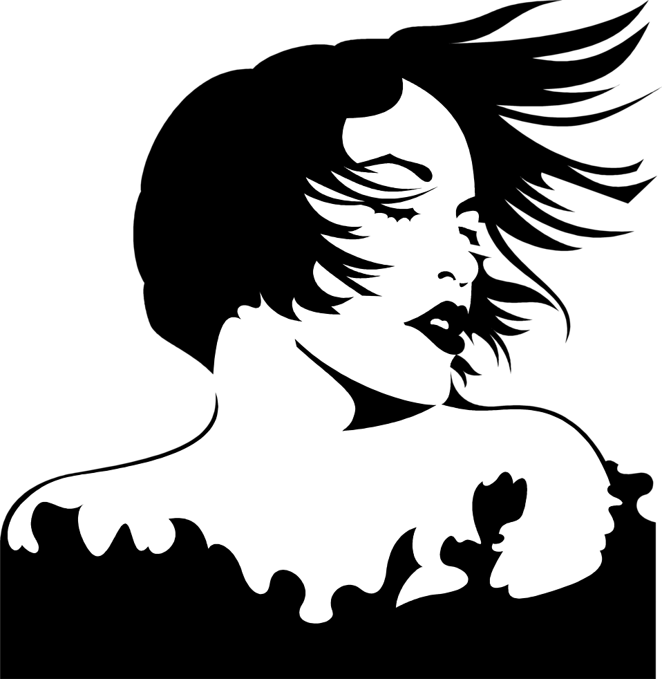 Female Hair Silhouette...