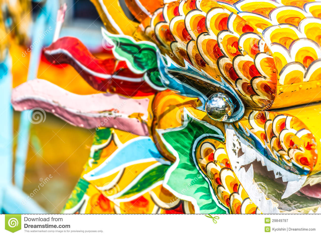 Multicolored Face Of Vietnamese Dragon  Royalty Free Stock Photography