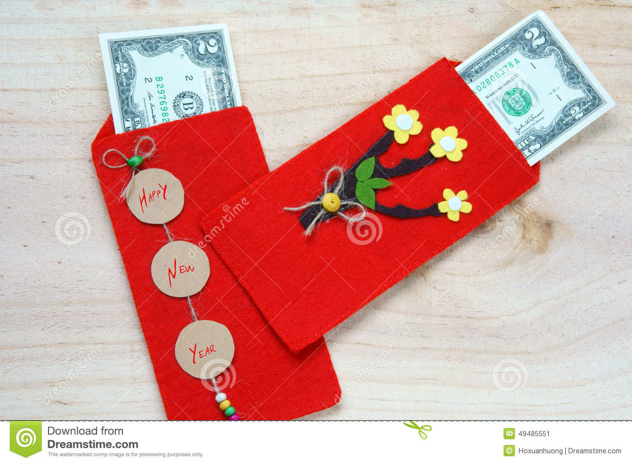 Of Vietnamese On Tet Is Lucky Money A Vietnam Traditional Culture