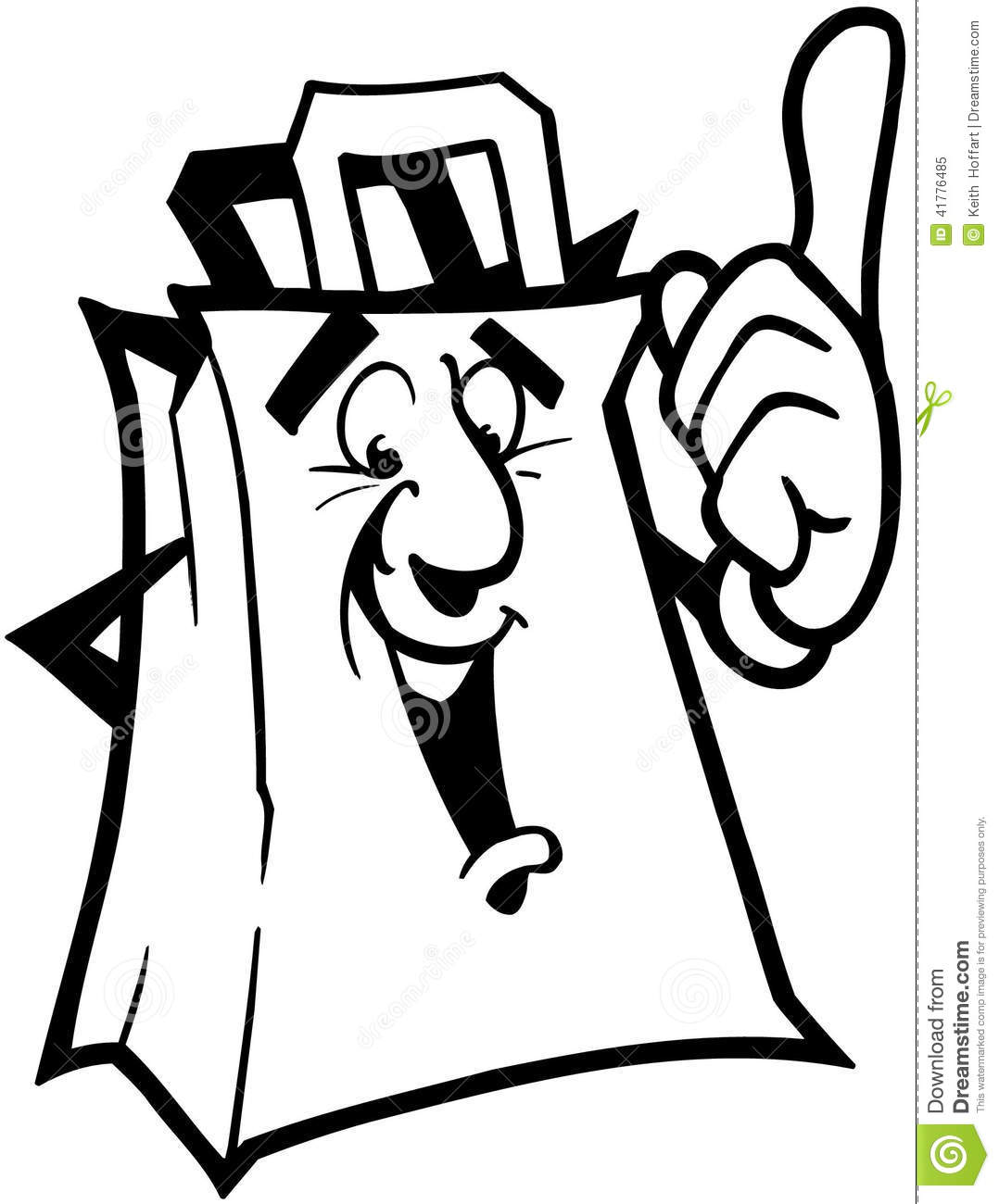 Plastic Grocery Bags Clip Art Grocery Bag Cartoon Vector