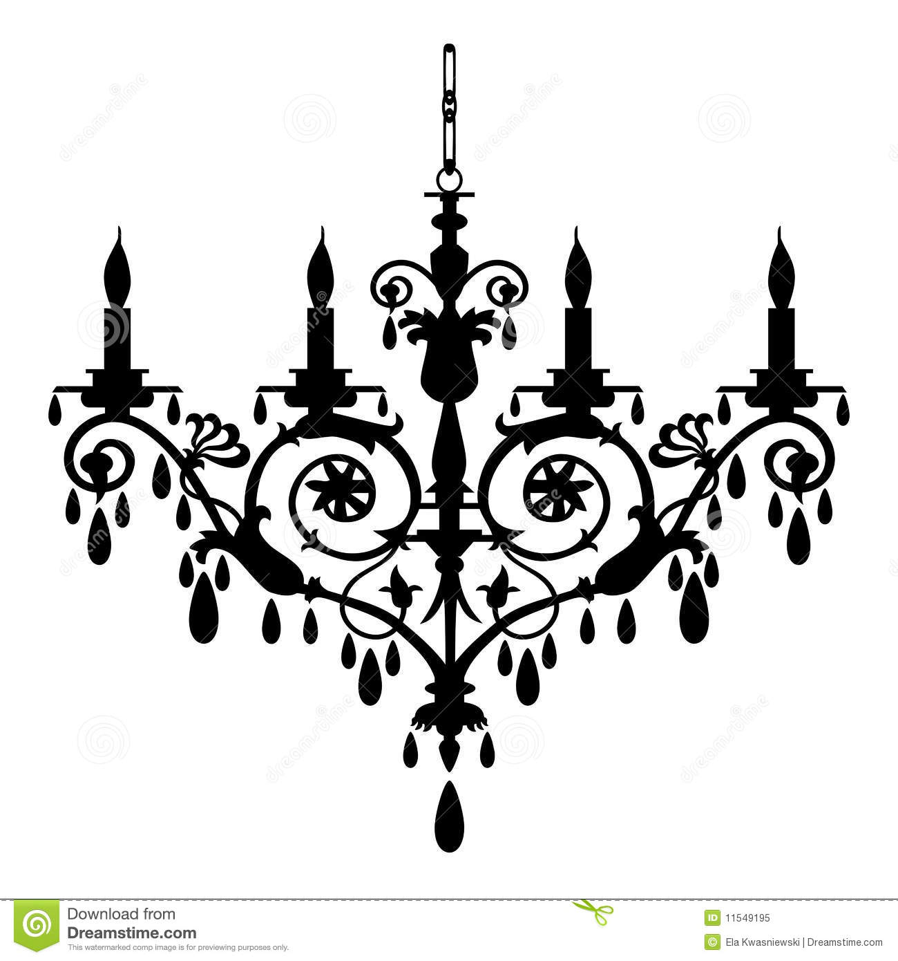Retro Chandelier Silhouette Royalty Free Stock Photo   Image  11549195