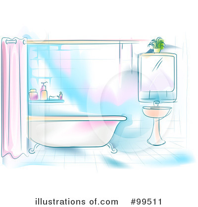 Royalty Free  Rf  Bathroom Clipart Illustration By Bnp Design Studio