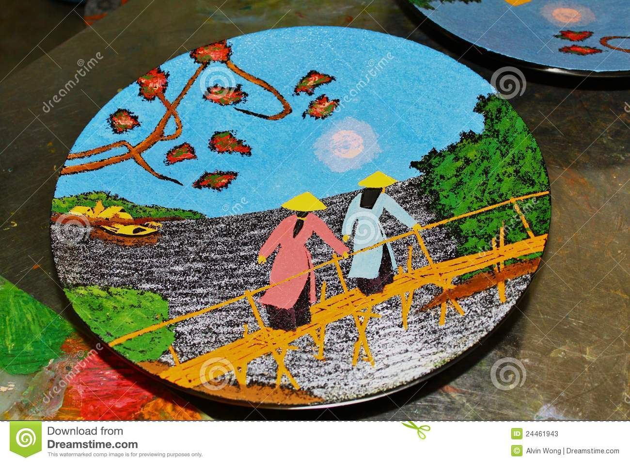 Vietnamese Artwork Stock Photos   Image  24461943