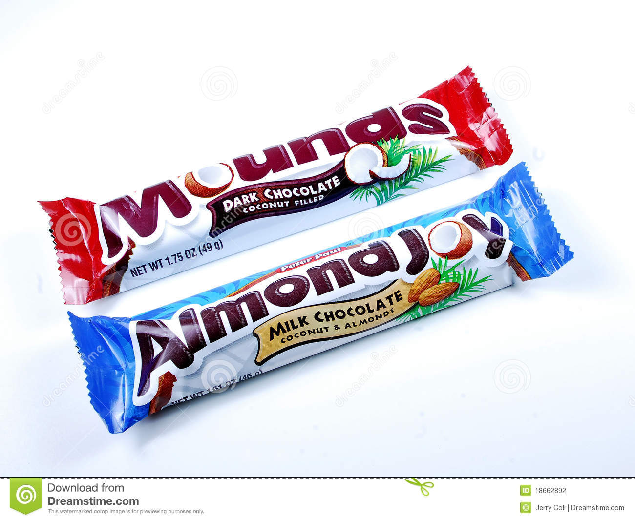 Almond Joy And Mounds Bars Editorial Photography   Image  18662892