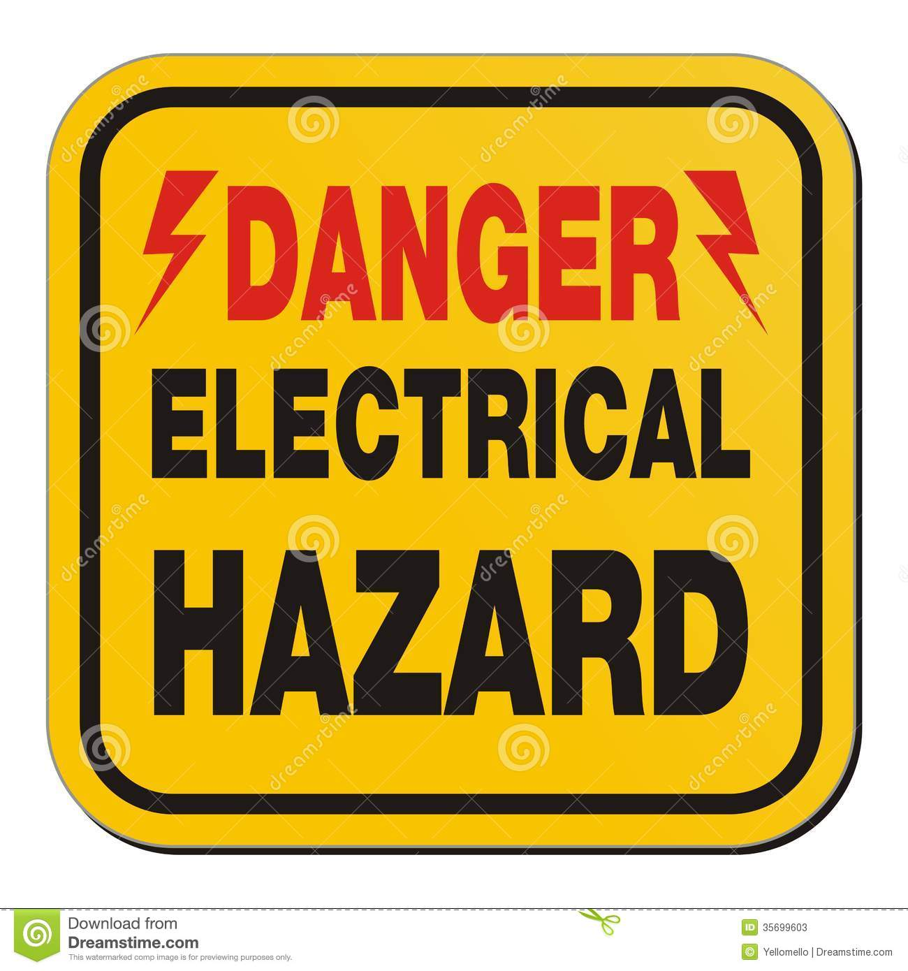 Electrical Safety Signs : Electrical warning sign clipart suggest