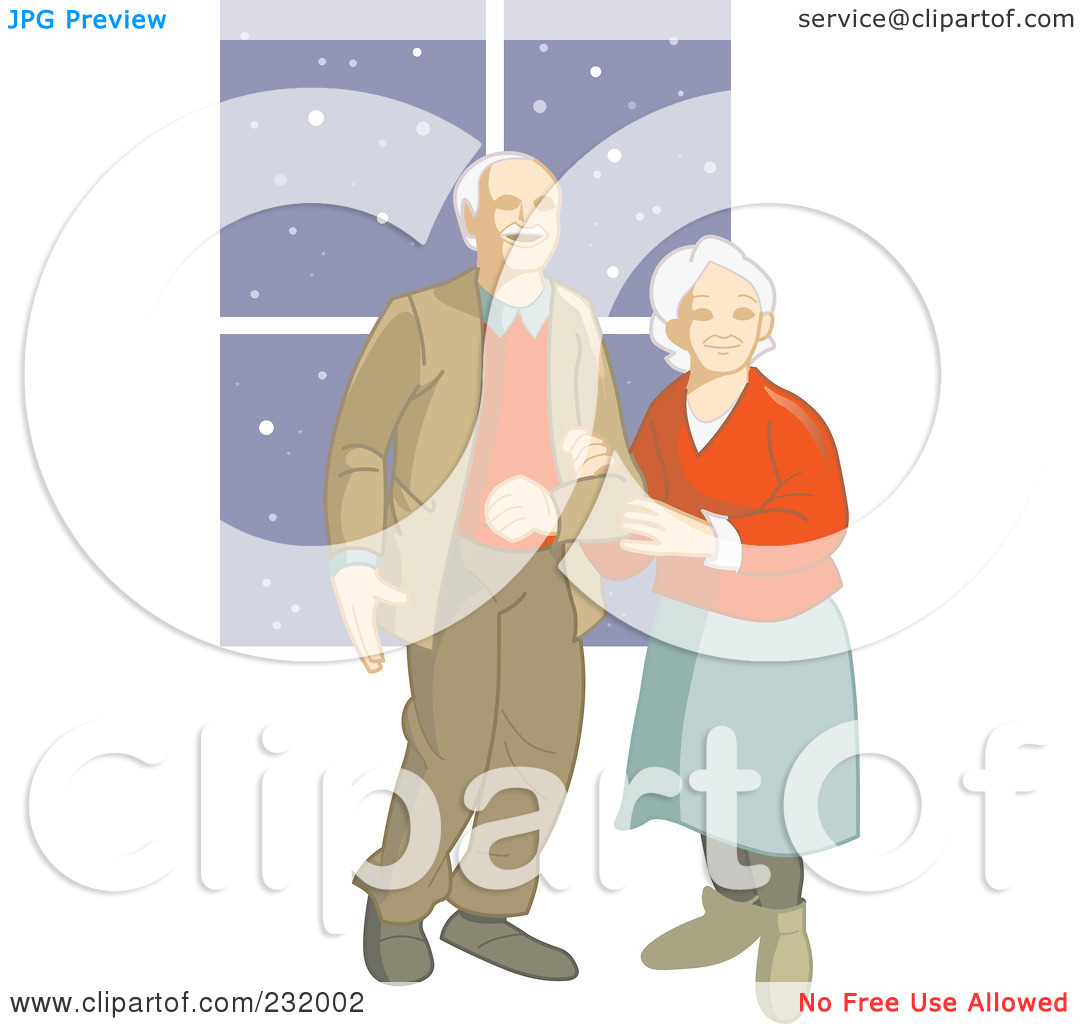 Free  Rf  Clipart Illustration Of A Happy Elderly Couple By Frisko