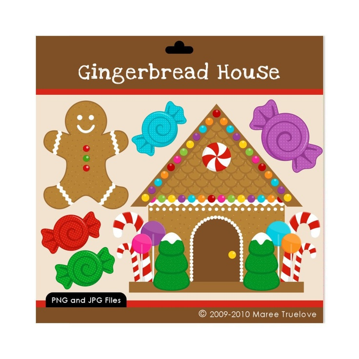 Gingerbread House Clipart   Teaching   Holidays   Pinterest
