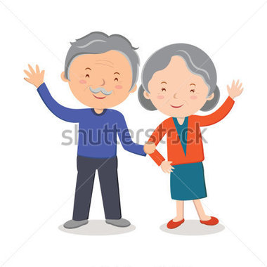 People   Elderly Couple Portrait  Happy Senior Couple Gesturing