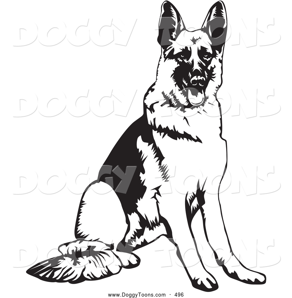 Preview  Doggy Clipart Of A Smart And Obedient German Shepherd Dog