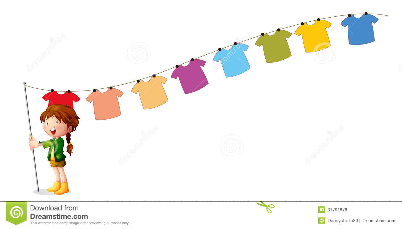 clipart hanging clothes - photo #6