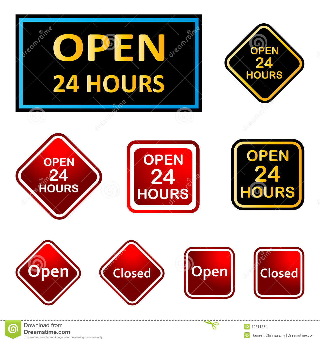 24 Business Hours Clipart