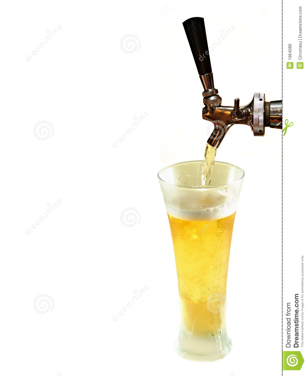 Beer Draft And Frozen Glass Royalty Free Stock Image   Image  1964086