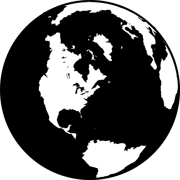 Black And White Globe Clip Art At Clker Com   Vector Clip Art Online