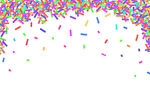 Border Frame Of Colorful Sprinkles Isolated On White Background Card