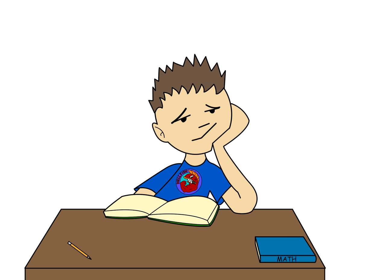Bored Student Clipart - Clipart Kid