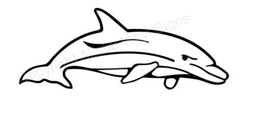 Bottlenose Dolphin Drawing Bottlenose Dolphin Car Window Decal Jpg