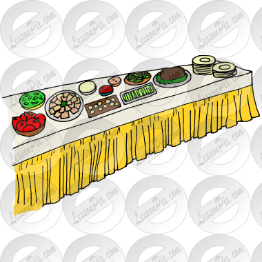 Buffet Picture For Classroom   Therapy Use   Great Buffet Clipart