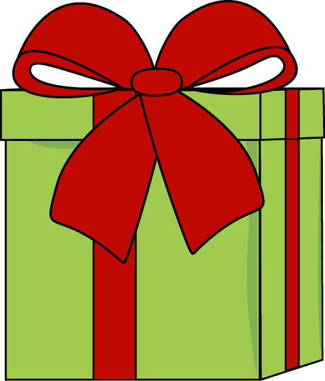 Christmas Gift With A Big Bow Clip Art   Christmas Gift With A Big Bow