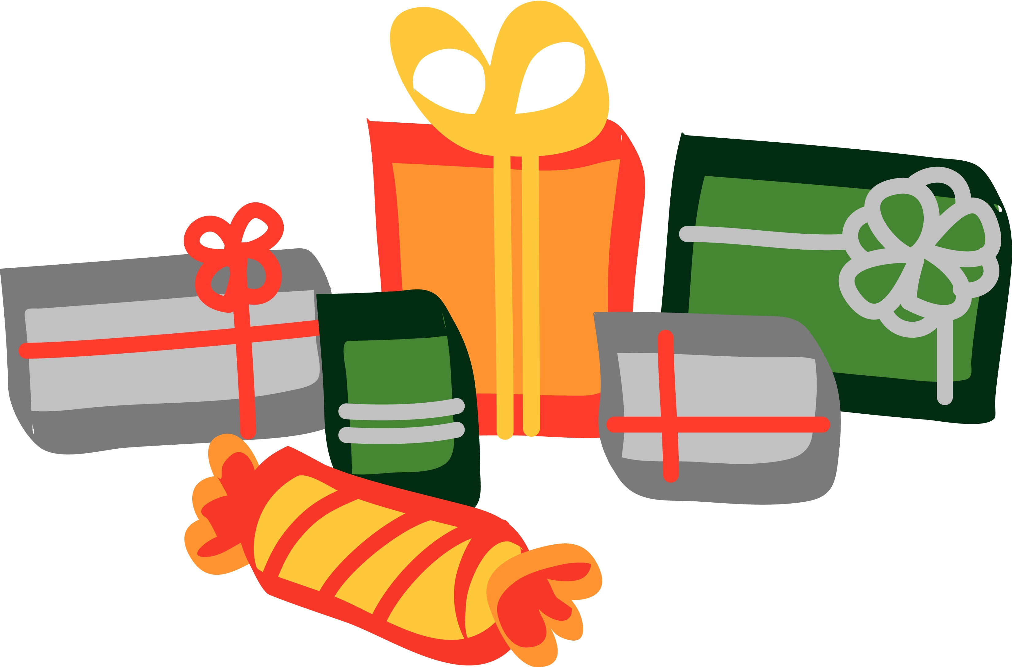 Christmas presents clipart suggest