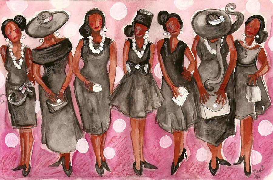 Women In Church Hats Clipart - Clipart Kid