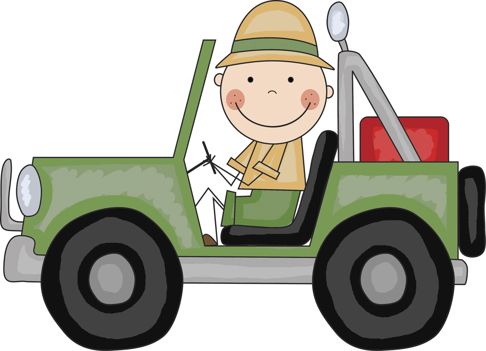 Jungle Jeep Clipart - Clipart Kid
