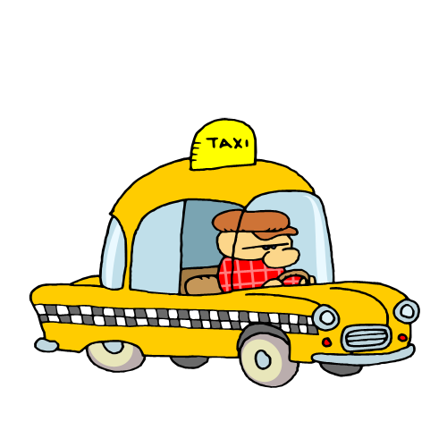 Free Clip Art   Yellow Cab Taxi 023   Gnurf