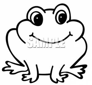 Funmozar   Frog Clipart Black And White