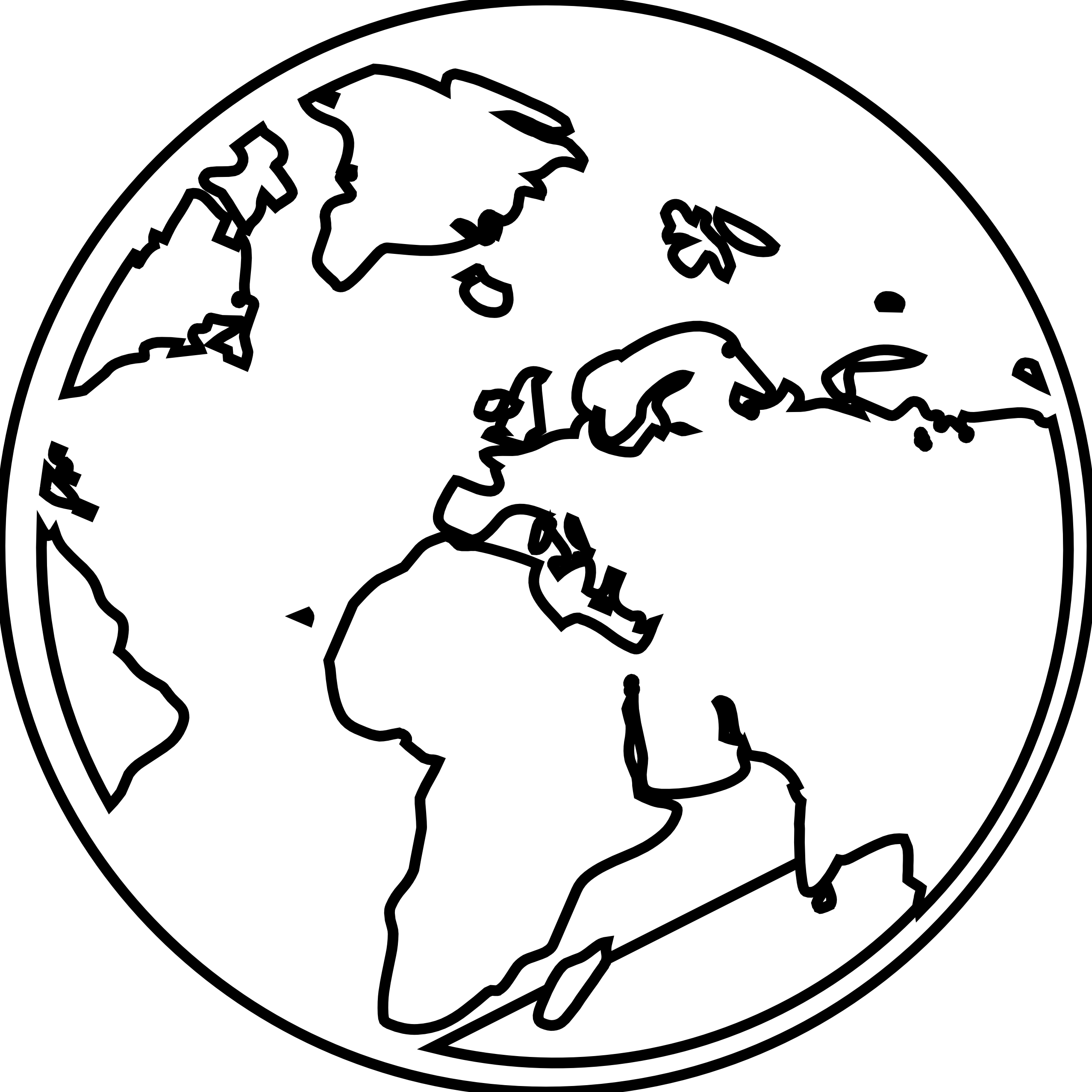 Globe Black And White Clipart