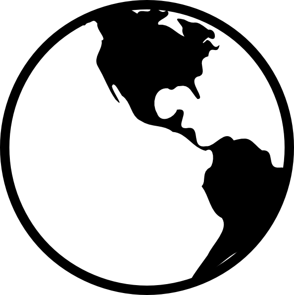 Globe Black And White Outline   Clipart Panda   Free Clipart Images