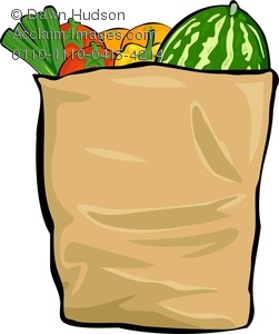 Clip Art Grocery Bag Clipart grocery bag clipart kid full of fresh produce royalty free image