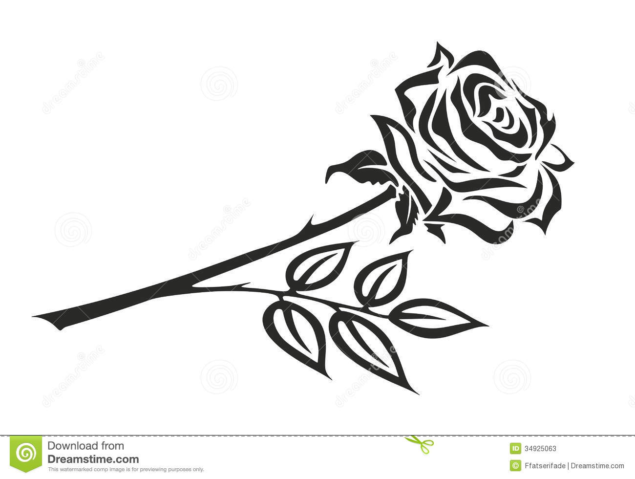 Black Rose Clipart - Clipart Kid