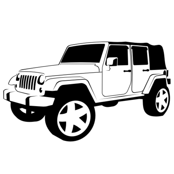 Jeep Wrangler X   Free Images At Clker Com   Vector Clip Art Online