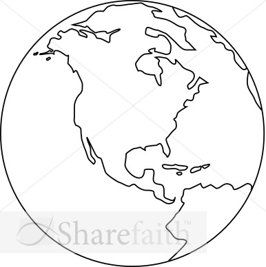 World Globe Black And White Clipart - Clipart Kid