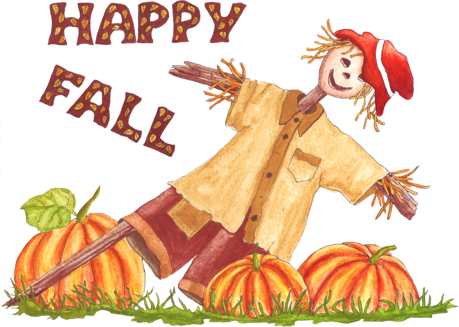 Happy Fall Clipart - Clipart Kid
