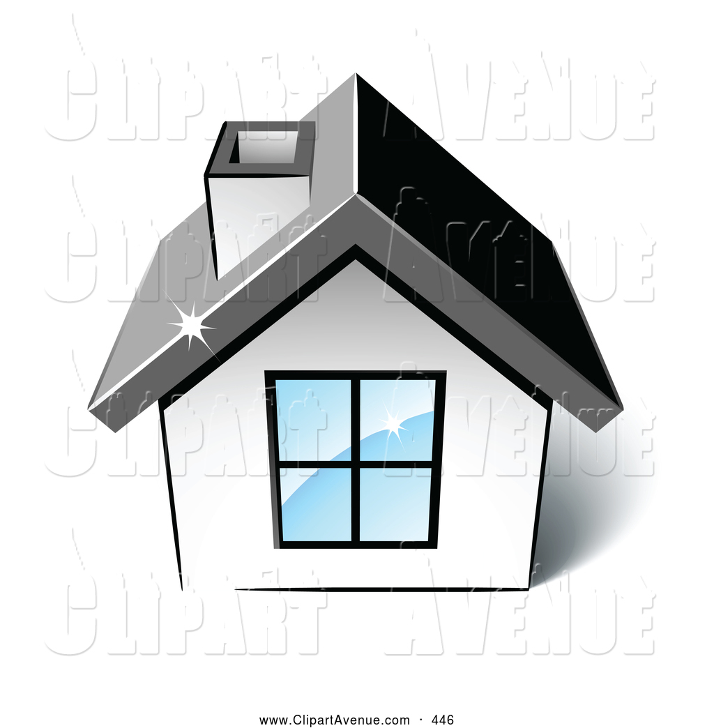 Preview  Avenue Clipart Of A Little White Home With A Big Window