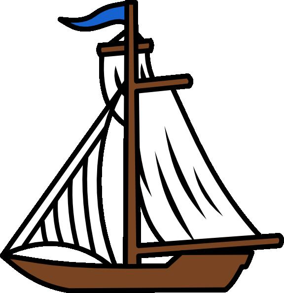 Cartoon Sailboat Clipart - Clipart Kid