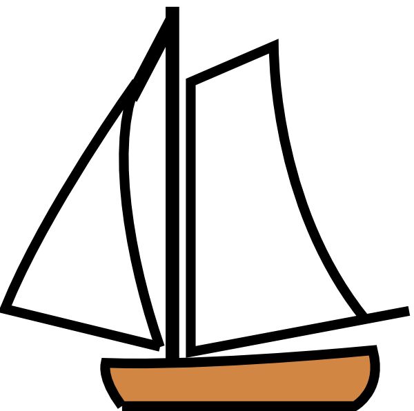 Sailing Boat Clip Art At Clker Com   Vector Clip Art Online Royalty