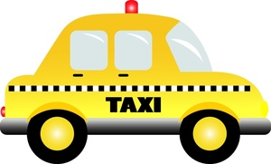 Taxi Clipart Image   Yellow Taxi Cab