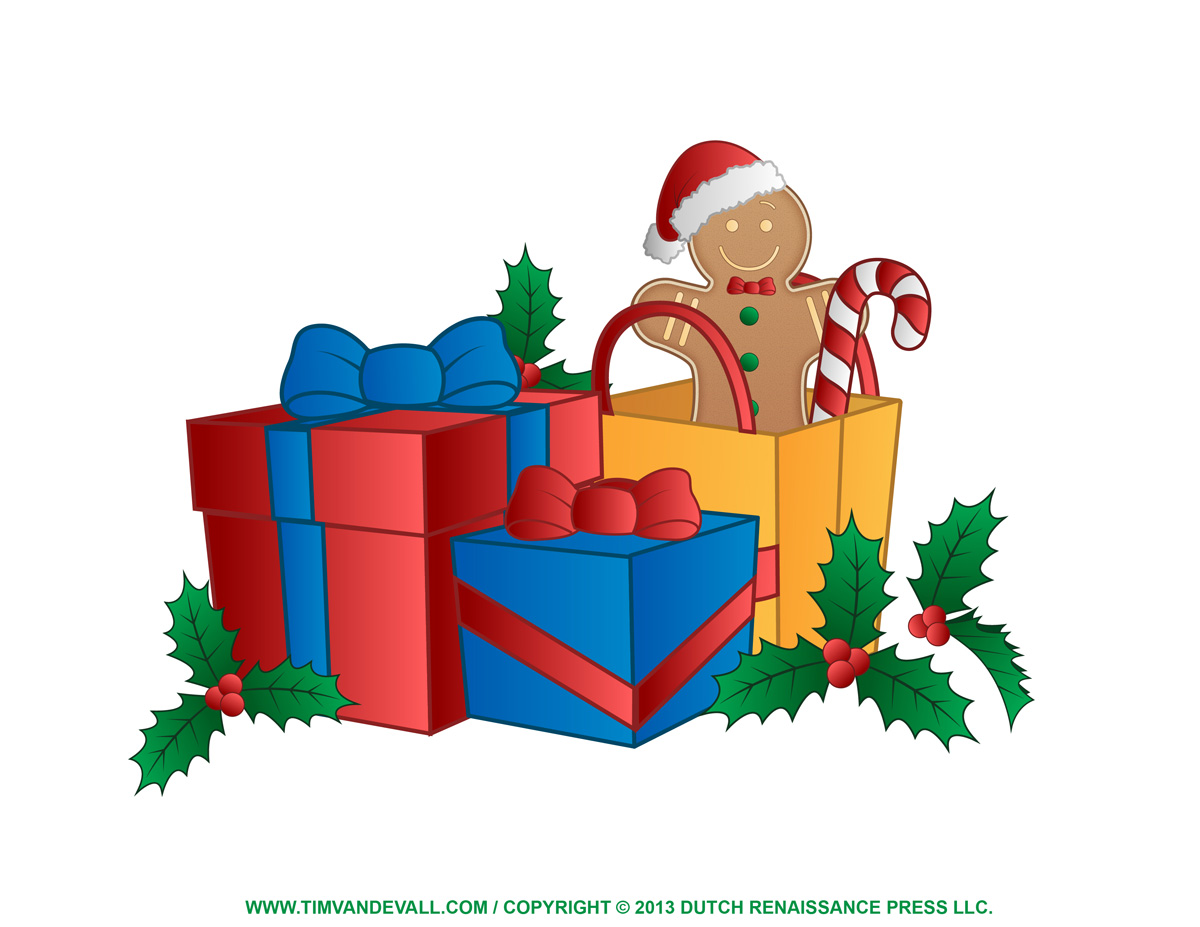 Christmas present clipart clipart suggest for Christmas images paintings