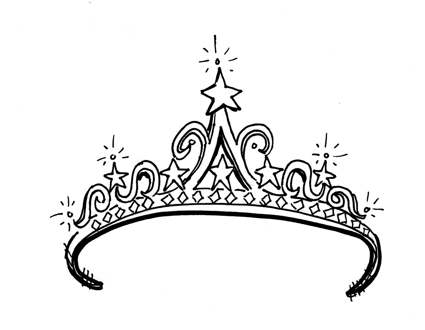 Tiara Coloring Page Free Cliparts That You Can Download To You