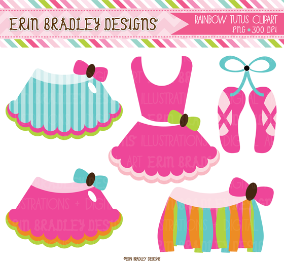 Tutu Clipart Sets Matching