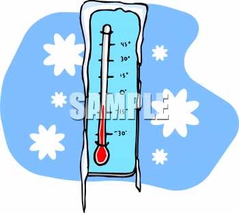 Weather Clip Art Picture Of A Thermometer Showing 20 Below Zero