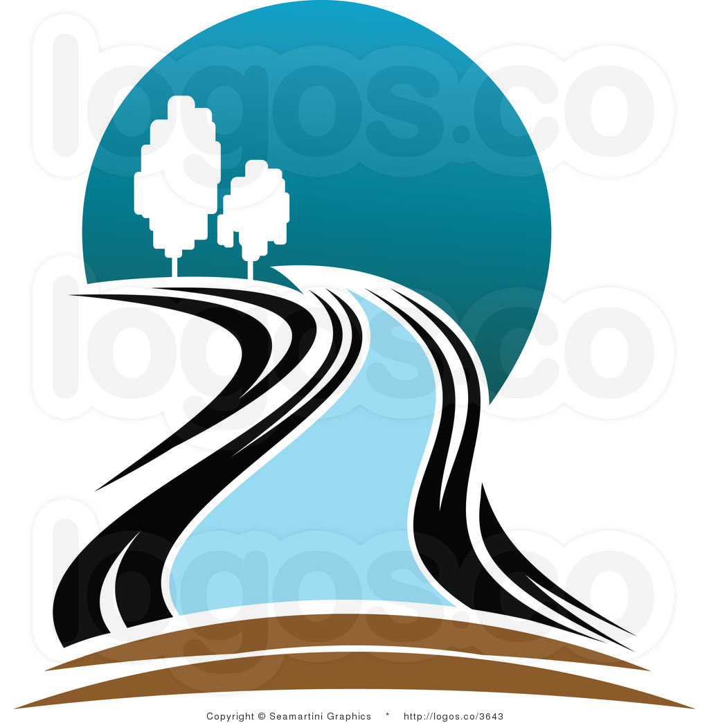 Winding River Clipart River Clip Art Royalty Free River And Trees Logo