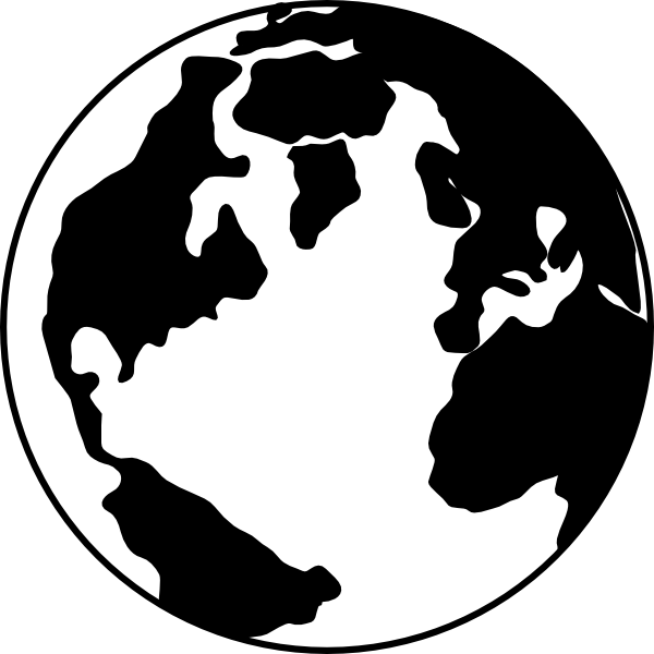 World Clipart Black And White Png   Clipart Panda   Free Clipart