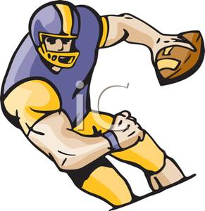 An Athlete Playing Football   Royalty Free Clipart Picture