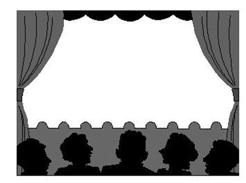 Black and white theater curtains - Theatre Borders Clipart Clipart Suggest